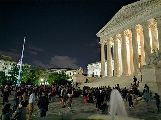 Supreme Court after Ruth Bader Ginsburg's death. Photo by Sdkb. Creative Commons Attribution-Share Alike 4.0 International license.