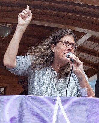Susan Stryker - At Trans March San Francisco, June 2017