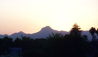 Yuba City, California - Sutter Buttes seen from Yuba City