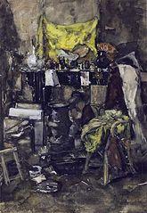 Corner of the artist's studio