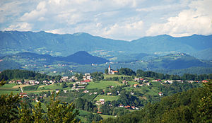Lower Carniola - Typical Lower Carniolan landscape in Sveti Vrh