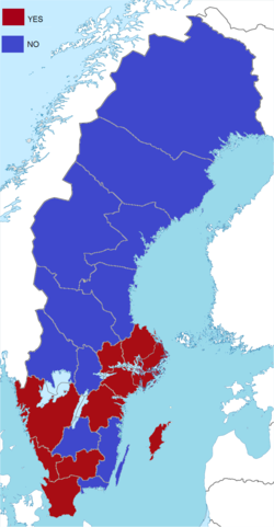 Swedish EU membership referendum, 1994 result by provinces.png