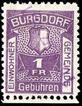 Switzerland Burgdorf 1917 revenue 1Fr - 7A.jpg