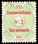 Switzerland Renens 1912 revenue 6 2Fr - 27.jpg