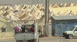 Syrian refugee camp on theTurkish border