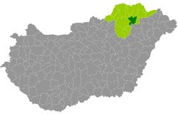 szerencs térkép Szerencs District   Wikipedia szerencs térkép