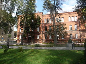 Ełk - The court building, built in 1880, nowadays an elementary school