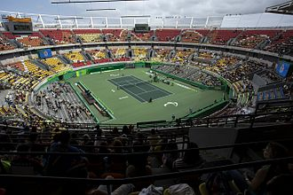 2016 Summer Paralympics - The Tennis Arena during the Paralympics competitions.