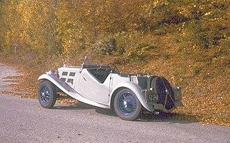 Triumph Motor Company - 1936 Triumph Gloria Southern Cross 10.8 HP (four, 1,232 cc)