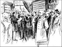 Zeichnung der Inaugurations Theodore Roosevelts 1901