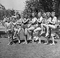 Tableau, bathing suit, beach Fortepan 11891.jpg