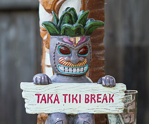Tiki bar - Tiki décor as being used in a private tiki bar in Northern California
