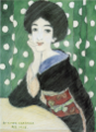 TakehisaYumeji-1915-A Woman Resting her Chin on her Hand.png