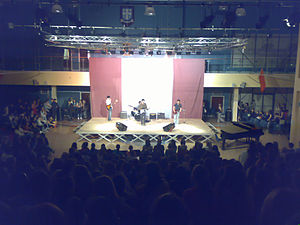 Talent show - A school talent show taking place at St Ninian's High School in Glasgow, Scotland.