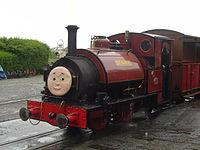 """Talyllyn Railway No. 3 """"Sir Handel"""" at Tywyn - 2008-06-05.jpg"""