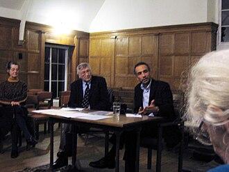 Tariq Ramadan - Tariq Ramadan (at table, right) speaking in Oxford.