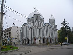 Tarnaveni - Orthodox church on Republicii street - panoramio.jpg