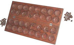 Bao (mancala game) - Initial setup in Bao la kiswahili