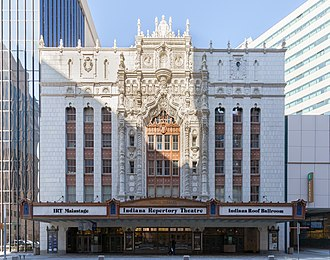 Indiana Theatre (Indianapolis) - Front of the theater