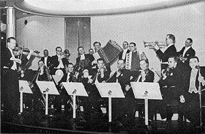 1941 in jazz - Danish bandleader Teddy Petersen (1892-1991) with his orchestra