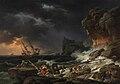 Tempête de mer avec épaves de navires.JPG