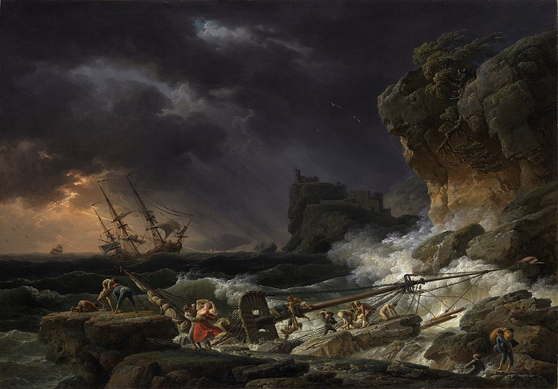 File:Tempête de mer avec épaves de navires.JPG