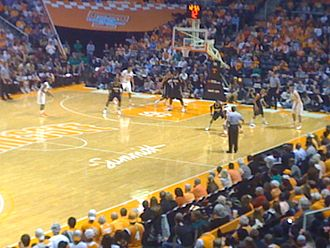 Tennessee Volunteers basketball - The Tennessee Vols facing the Vanderbilt Commodores in Thompson-Boling Arena