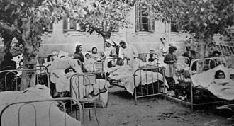 1944 San Juan earthquake - The injured are tended to following the collapse of the city hospital