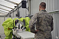 Testing a package for radiation and chemical warfare agents during a hazardous response exercise 100807-F-WA802-130.jpg