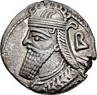 Tetradrachm of Vologases IV, minted at Seleucia in 153.jpg