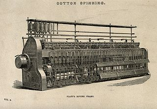 Cotton-spinning machinery Machinery used to spin cotton