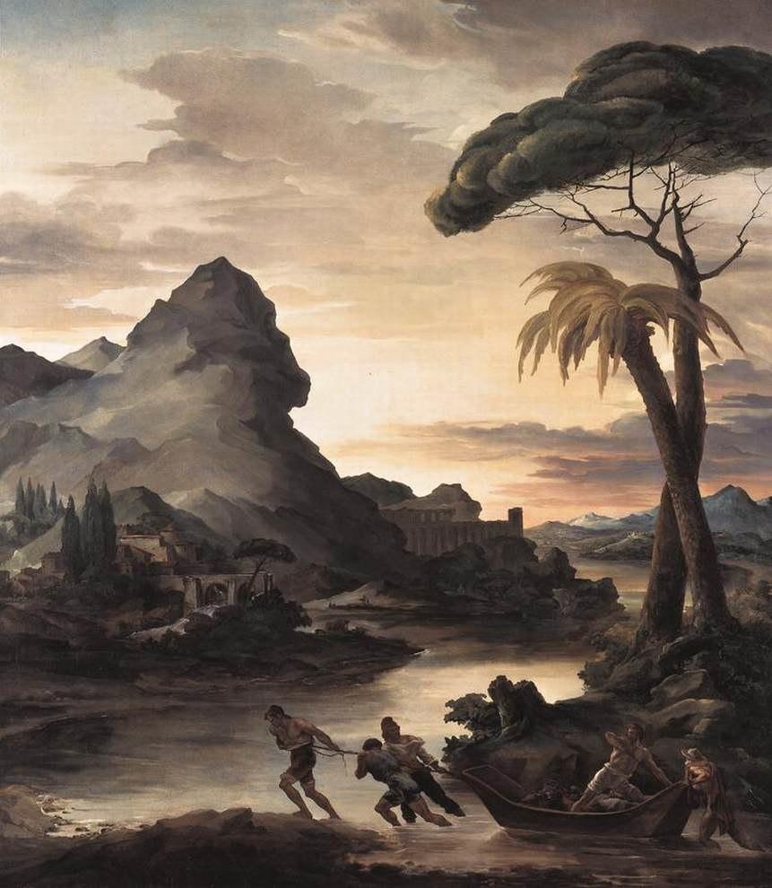 Théodore Géricault - Heroic Landscape with Fishermen - WGA08629