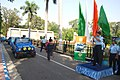 The Air Officer-in-charge Administration (AOA), Air Marshal J.N. Burma flagging off the IAF's fifteen member Motorsport Team 'Sky Hawkz', to participate in the International Car Rally- 13th Raid de Himalayas.jpg