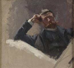 The Artist Georg Pauli. Study