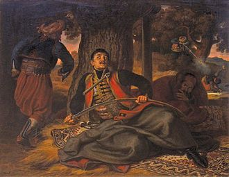 Naum Krnar - The assassination of Karađorđe and Naum Krnar is depicted in this 1863 painting by Mór Than. Krnar is depicted being shot in the background.