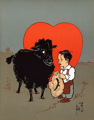 "Nursery rhyme - ""Baa, Baa, Black Sheep"", from a 1901 illustration by William Wallace Denslow"
