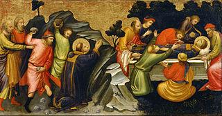 Predella Panel Representing the Legend of St. Stephen: The Stoning of St. Stephen / The Burial of St. Stephen