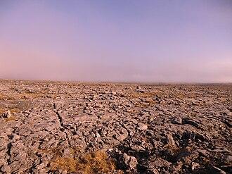 The Burren - The Burren landscape in the evening sun