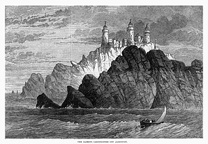 Les Casquets - Image: The Casquets Lighthouses off Alderney 1868