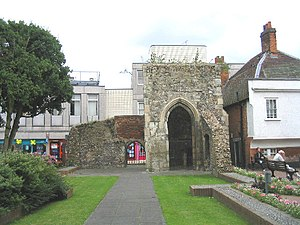 Brentwood, Essex - The ruins of the Chapel of Thomas Becket in the town centre