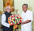 The Chief Minister of Kerala, Shri Pinarayi Vijayan calling on the Vice President, Shri M. Hamid Ansari, in New Delhi on May 28, 2016.jpg