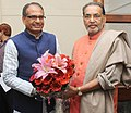 The Chief Minister of Madhya Pradesh, Shri Shivraj Singh Chouhan calling on the Union Minister for Agriculture, Shri Radha Mohan Singh, in New Delhi on January 14, 2015.jpg