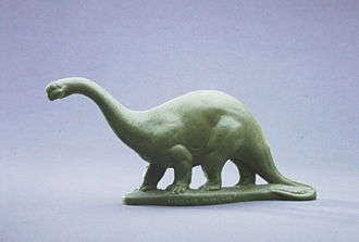 Sinclair Oil Corporation - Sinclair Dinoland plastic brontosaurus, 1964, in the collection of The Children's Museum of Indianapolis