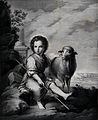 The Christ Child as the Good Shepherd. Lithograph by J. Abri Wellcome V0034043.jpg