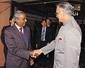 The Deputy Prime Minister of Singapore, Prof. S. Jaikumar meeting with the Union Home Minister, Shri Shivraj V. Patil, in New Delhi on March 15, 2007.jpg