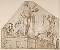 The Dioscuri on Monte Cavallo; verso- Study of a Spiral Staircase MET DP801202.jpg