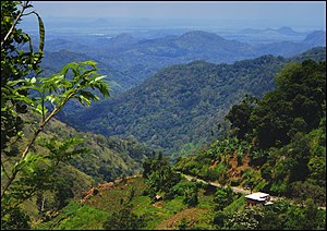 Kingdom of Kandy - The Ella Gap – typical of the mountainous and densely forested terrain of the Kingdom of Kandy