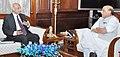 The Governor of Andhra Pradesh and Telangana, Shri E.S.L. Narasimhan calling on the Union Home Minister, Shri Rajnath Singh, in New Delhi on June 26, 2015.jpg