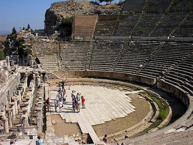 File The Great Theatre In Ephesus Turkey Jpg Wikimedia