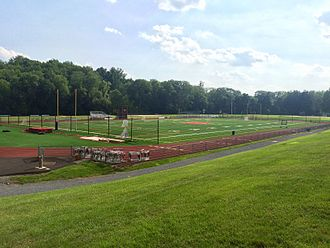 Hun School of Princeton - Part of the extensive playing fields along the Stony Brook